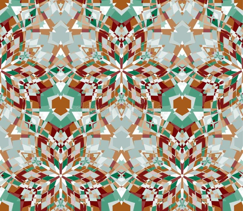 Multicolored achtergrond Naadloos die patroon uit kleuren abstracte die elementen wordt samengesteld op witte achtergrond worden  stock illustratie