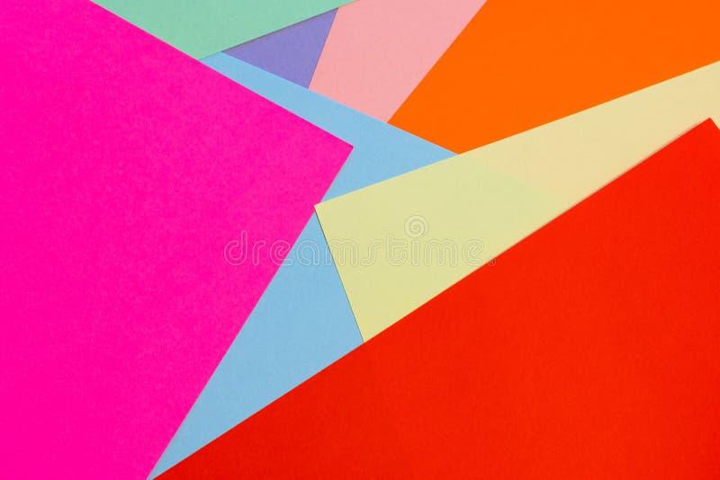 Multicolored achtergrond van de bladen van document textuur royalty-vrije stock foto