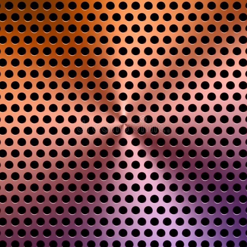 Multicolored achtergrond van het metaalscherm stock fotografie