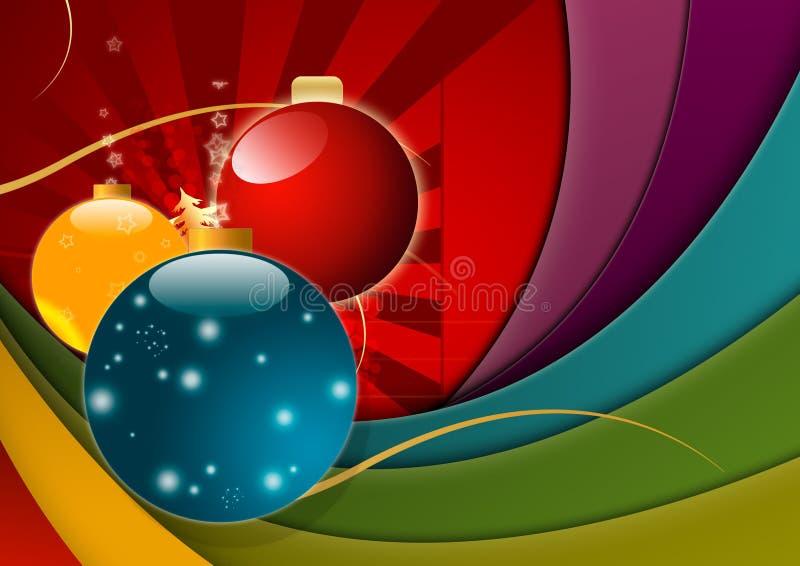 Multicolored Achtergrond van Kerstmis stock illustratie