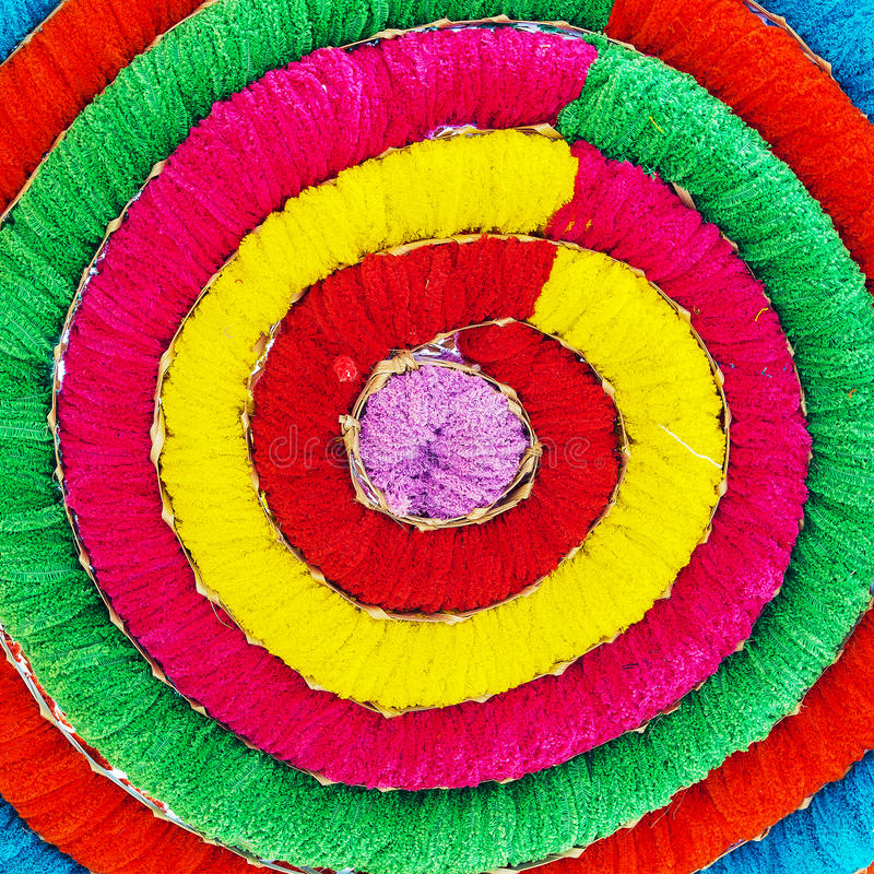 Multicolored acrylic yarn as background stock image