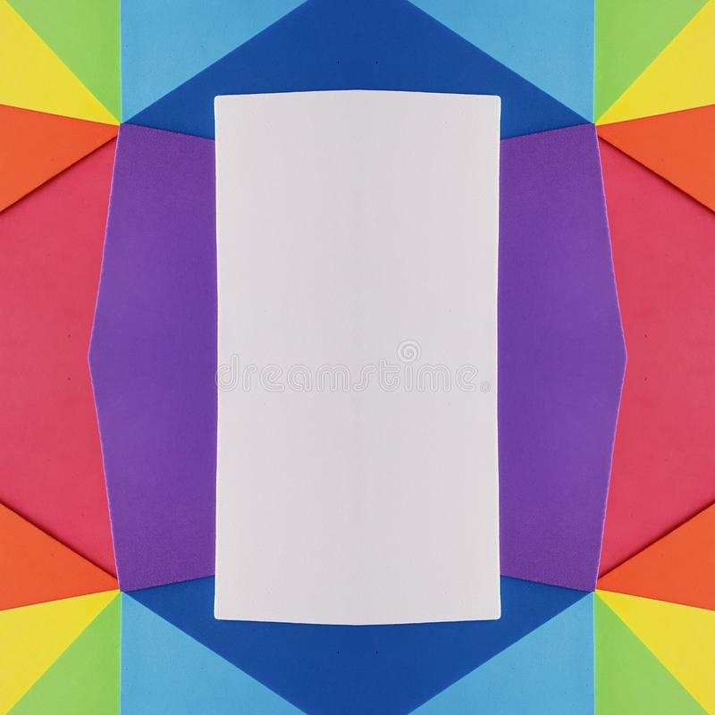 Frame With Cutouts Of Foamy In Rainbow Colors, Background And ...