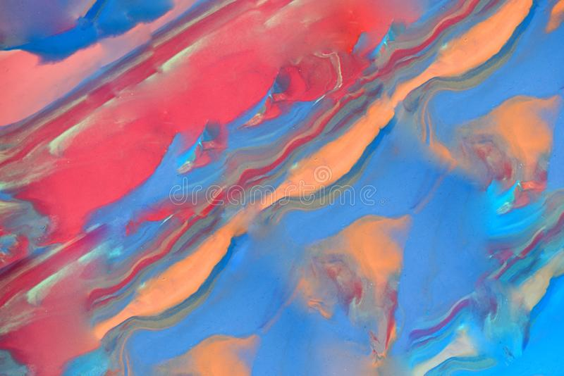 Multicolored background with fingerprints made from plasticine. Play Clay texture royalty free stock photography