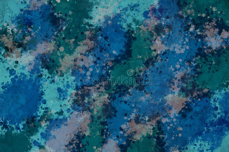 Multicolored background plastered wall in green-blue colors. Copy space, for text or isolated royalty free stock images
