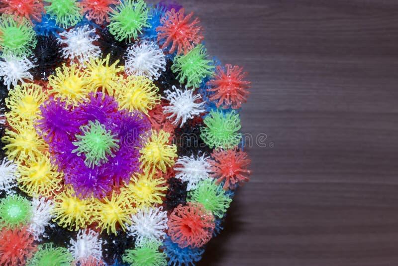 Multicolored ballen met plaats voor tekst royalty-vrije stock fotografie