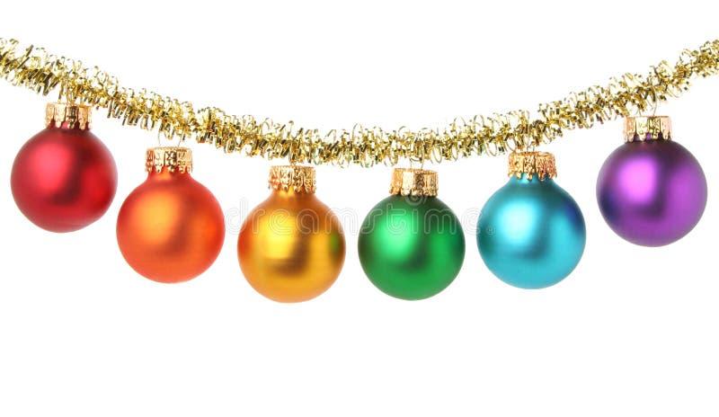 Multicolored ballen van Kerstmis stock foto's