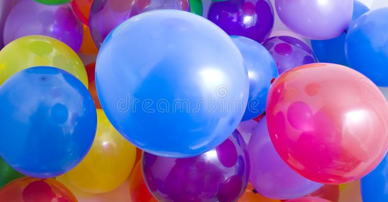 Multicolored Balloons Background royalty free stock photos