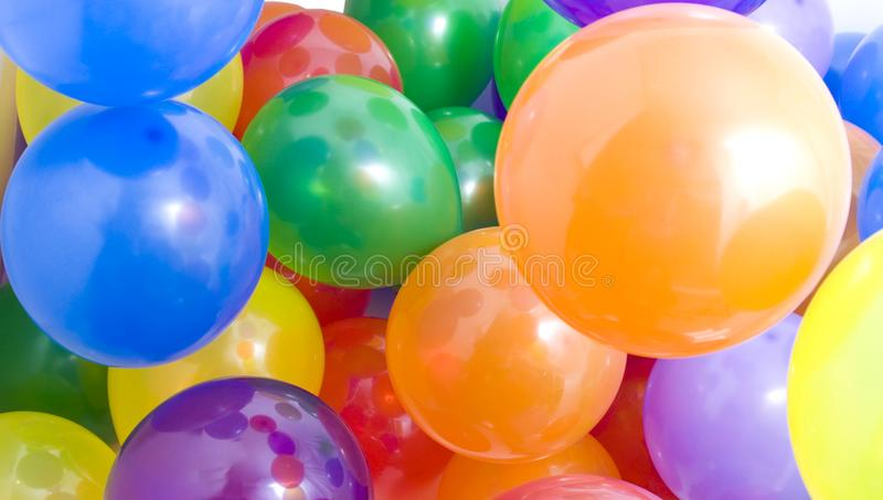 Multicolored Balloons Background stock photography