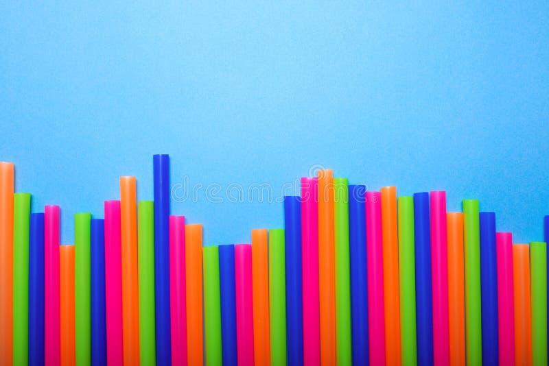 Multicolored bar tubules stock photo