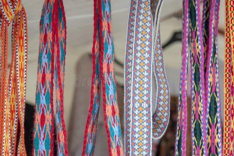 Multicolored Belts stock photo