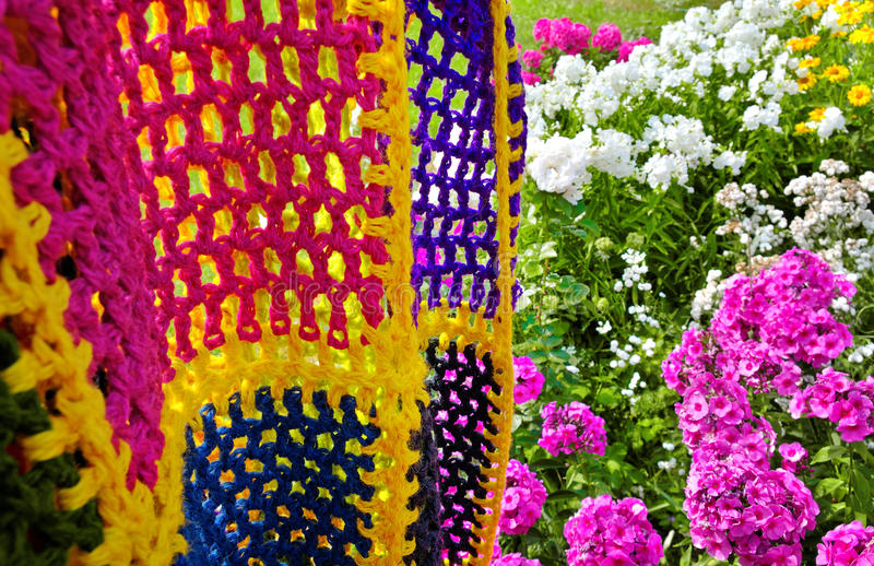 Download Multicolored blanket. stock photo. Image of pattern, garden - 23798522