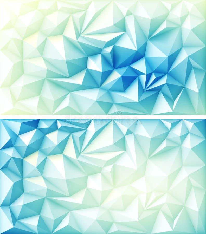 Multicolored Blauwe Gele Lichte Achtergronden van de veelhoek de Abstracte Veelhoekige Geometrische Driehoek royalty-vrije illustratie