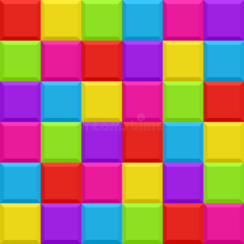 Multicolored Blocks Seamless Background Pattern Stock Photos
