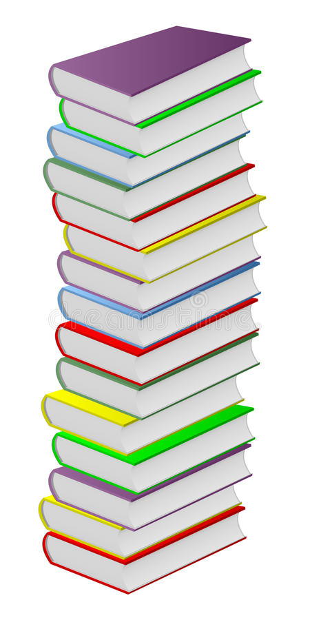 Multicolored books. stock illustration
