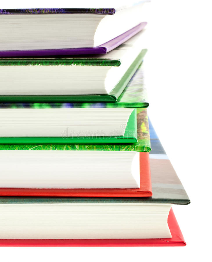 Download Multicolored Books Stack Isolated Stock Image - Image: 14774291
