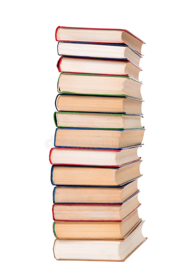 Free Multicolored Books Stack Isolated On White Background. Royalty Free Stock Images - 31901949