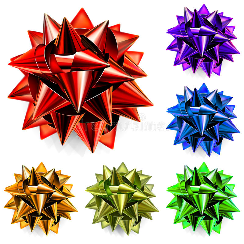 Multicolored Bows Of Ribbon Stock Photography