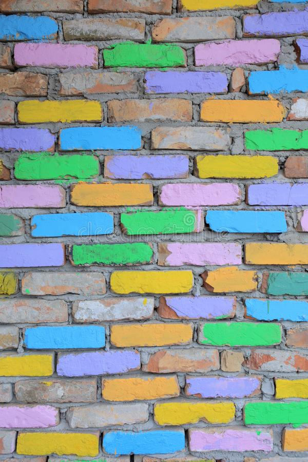 multicolored brick wall wallpaper texture royalty free stock images