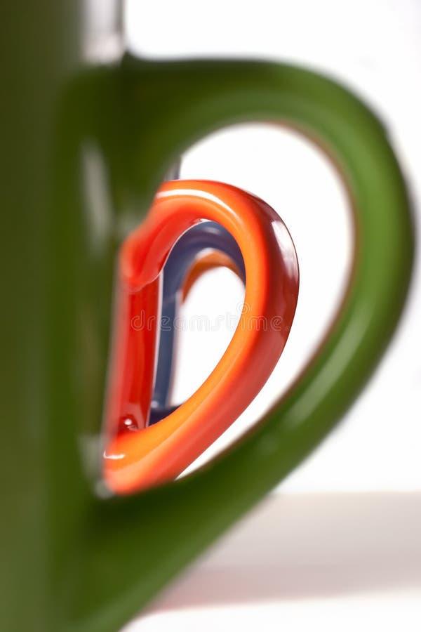 Download Multicolored ceramic mugs stock photo. Image of closeup - 15168482