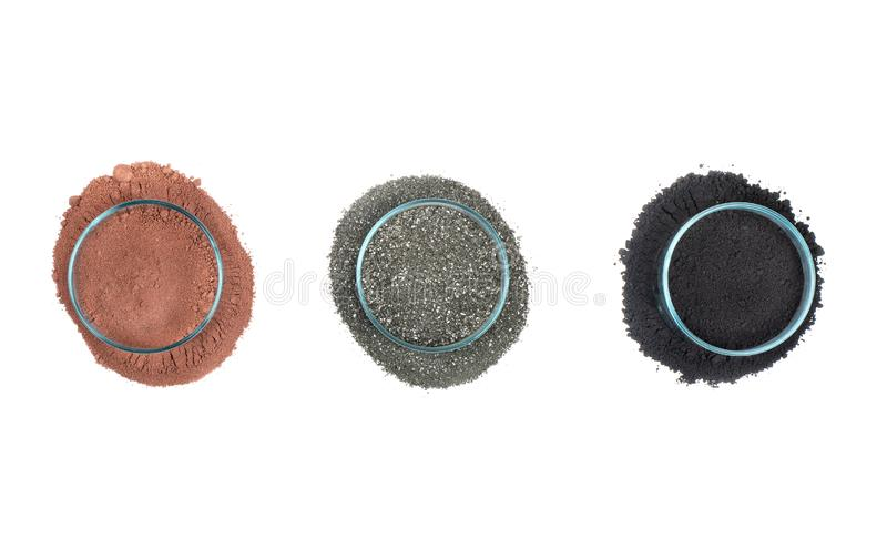 Multicolored chemical powder royalty free stock image