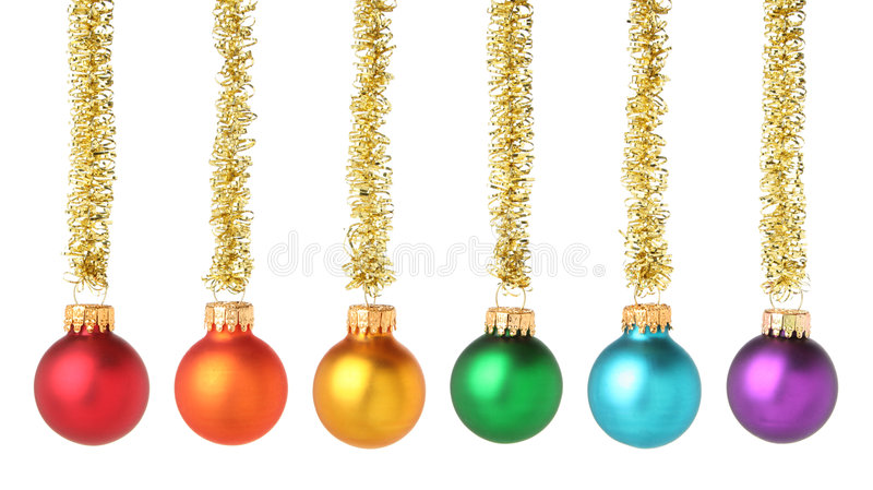 Multicolored Christmas Balls Stock Images