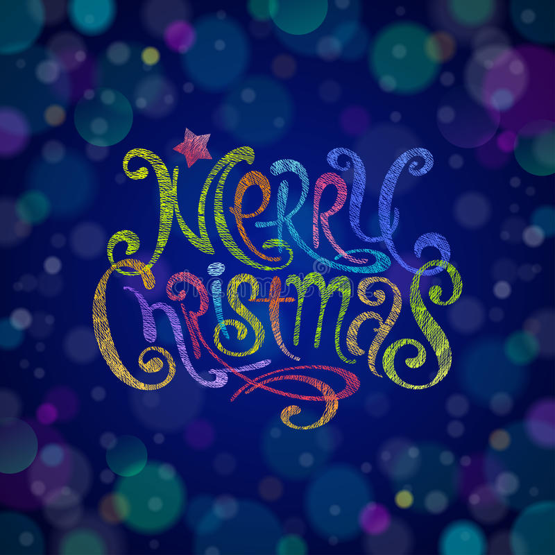 Download Multicolored Christmas Greeting Sign Stock Vector - Image: 27453222