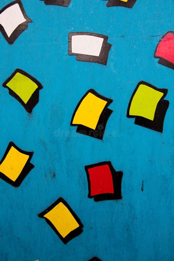Multicolored cijfers in de vorm van vierkanten stock foto