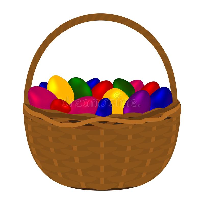 Multicolored colorful eggs for happy easter royalty free illustration