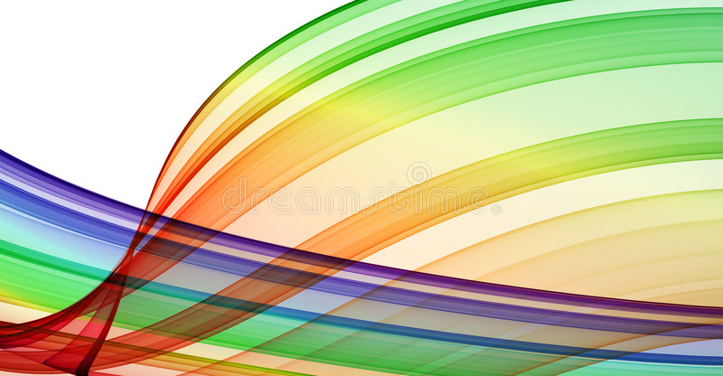 Multicolored curves stock image
