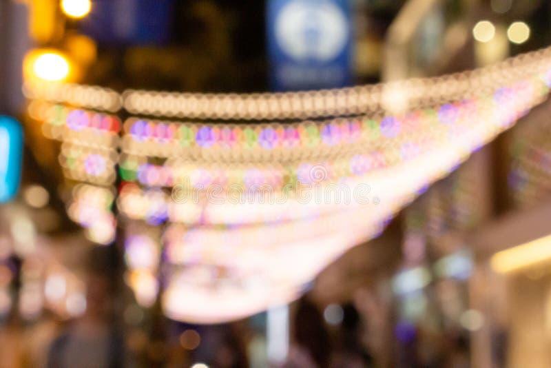 Multicolored defocused bokeh onscherpe lichten stock foto