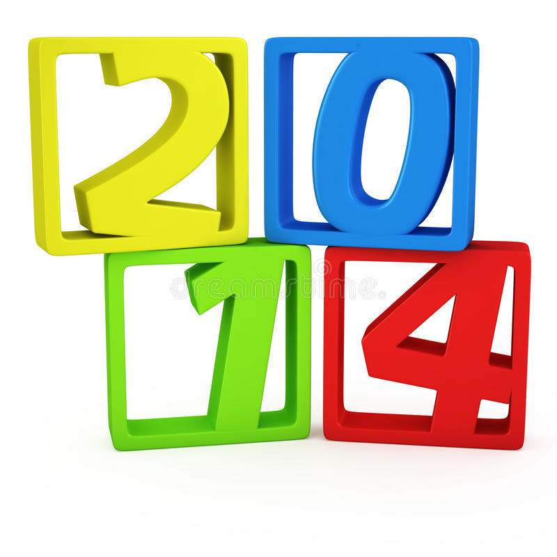 Download 2014 in the frames stock illustration. Image of seasonal - 30305785