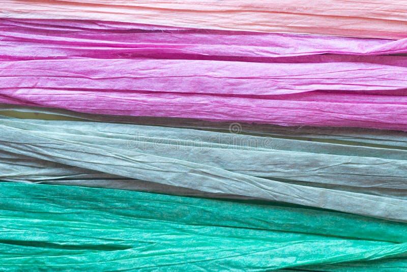 Multicolored document koorden royalty-vrije stock foto