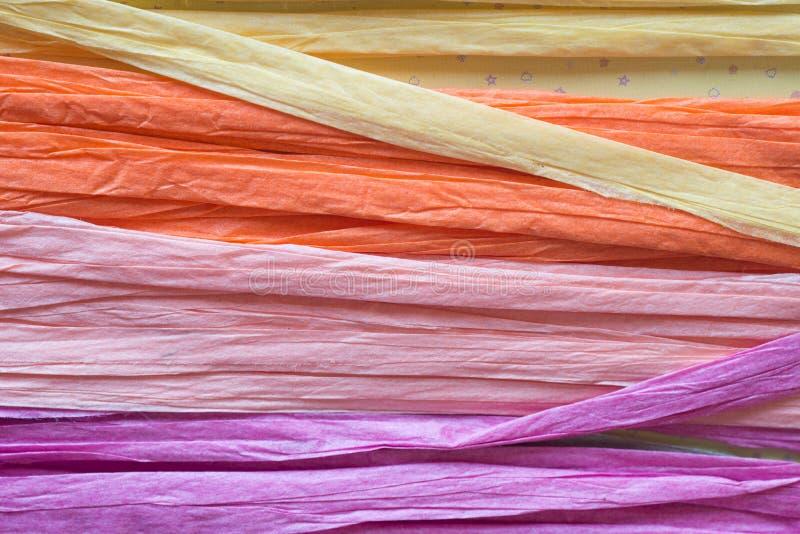 Multicolored document koorden royalty-vrije stock afbeelding