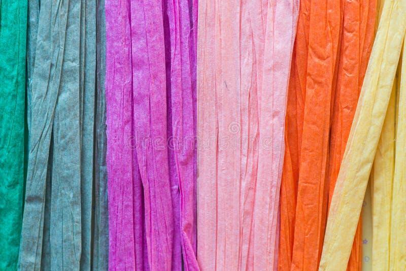 Multicolored document koorden stock afbeeldingen