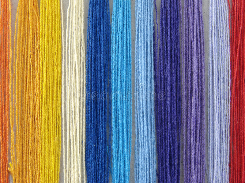 Multicolored draden stock afbeelding