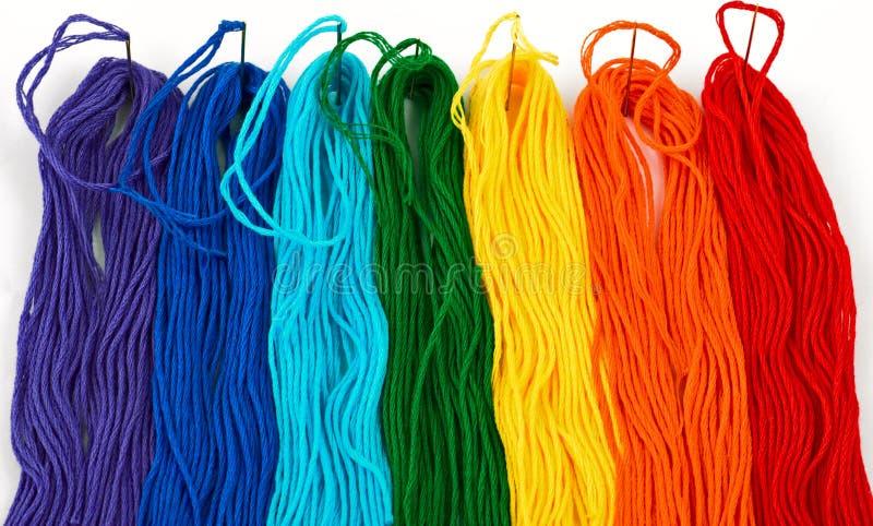 Multicolored draden stock foto