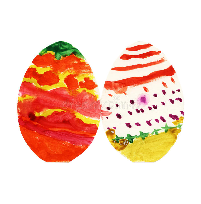 Multicolored easter eggs background royalty free stock photo