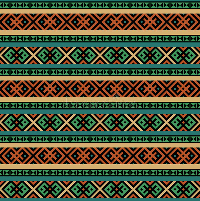 Multicolored ethnic seamless background royalty free illustration