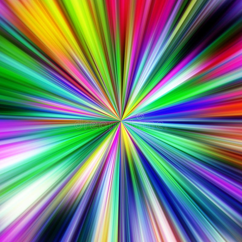 Multicolored explosion abstract illustration. stock image