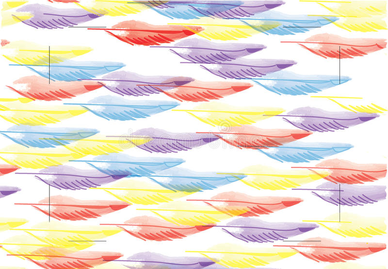 Multicolored feathers stock images