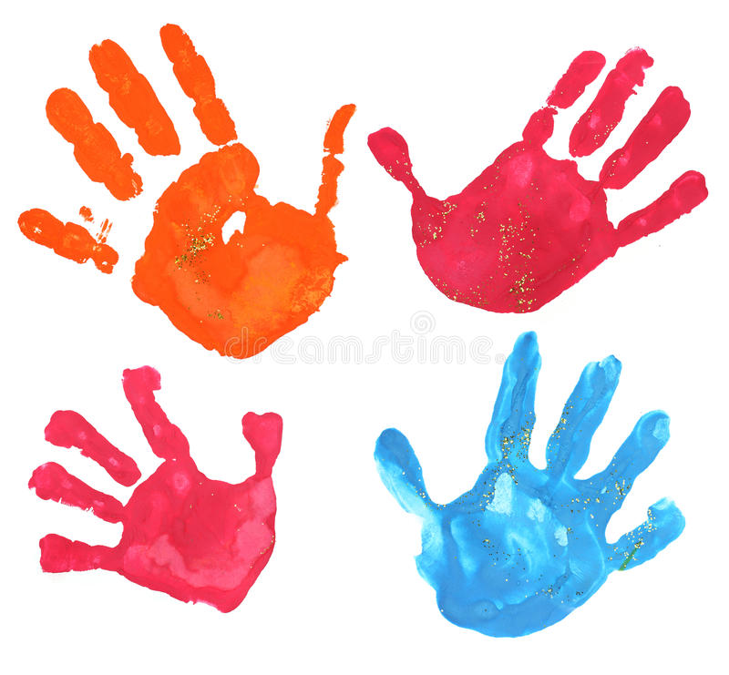 Multicolored fingerprints royalty free stock photo