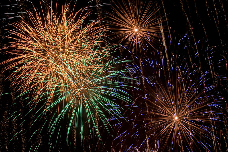 Multicolored Firework Display royalty free stock images