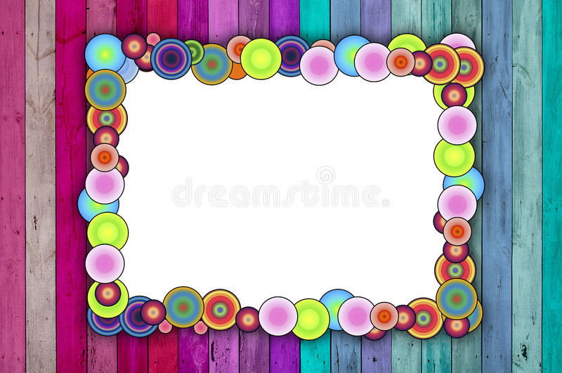 Multicolored Frame on Pink and Blue Background vector illustration