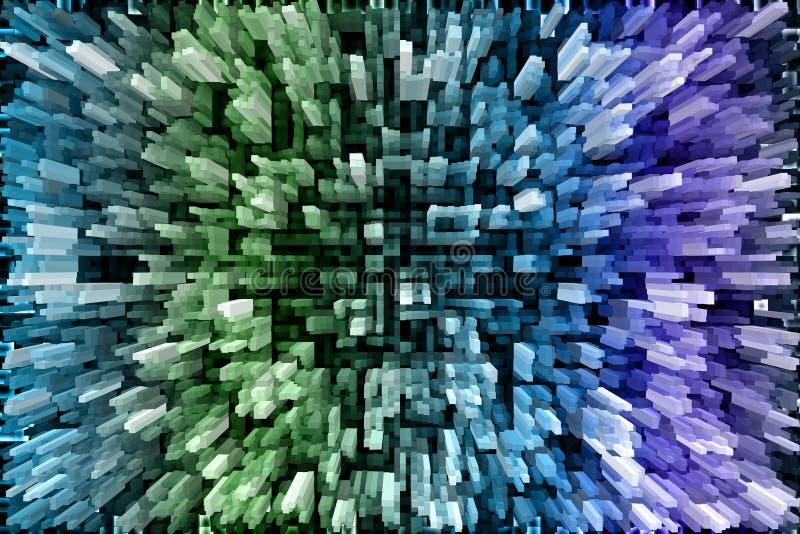 Multicolored frozen patterned fantasy background royalty free illustration