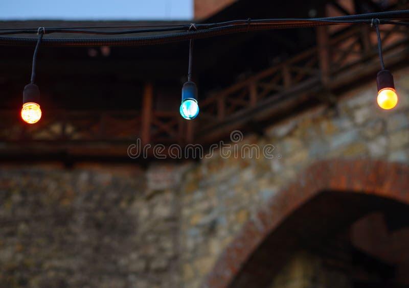 Multicolored geleide lampen royalty-vrije stock afbeeldingen