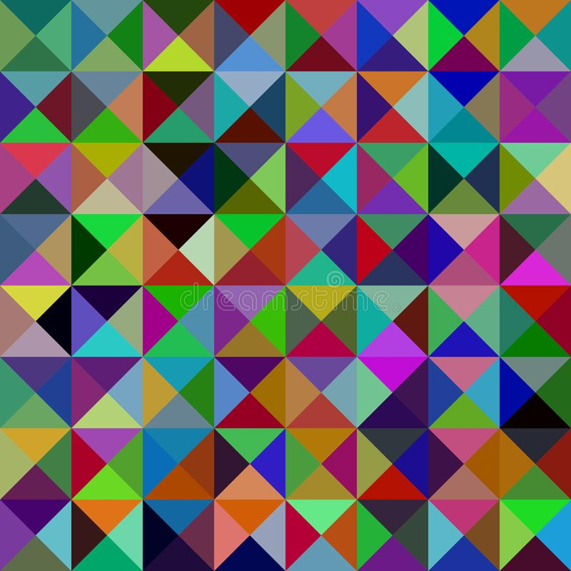 Geometric abstract triangle mosaic pattern background - vector graphic from triangles stock illustration