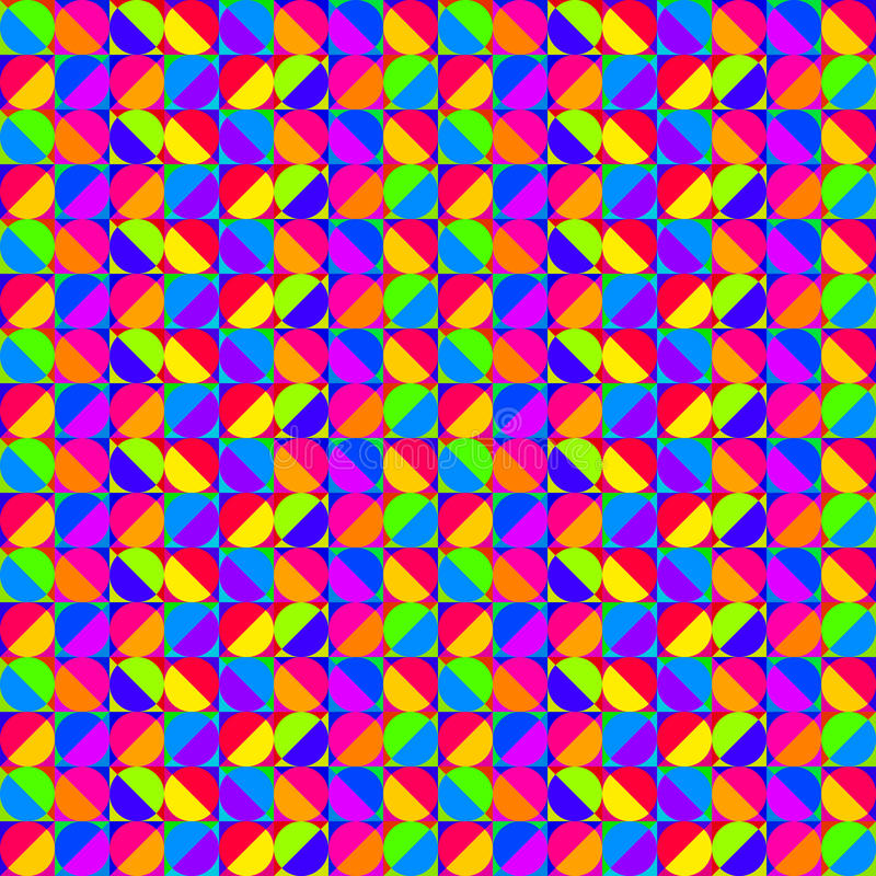 Multicolored Geometric Pattern Royalty Free Stock Photos