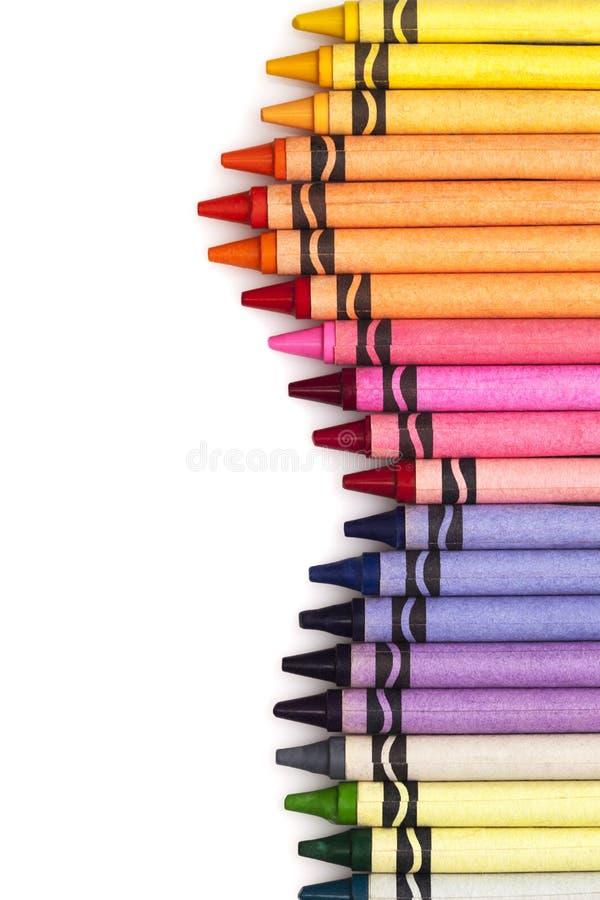 Multicolored geplaatste potloden royalty-vrije stock foto's