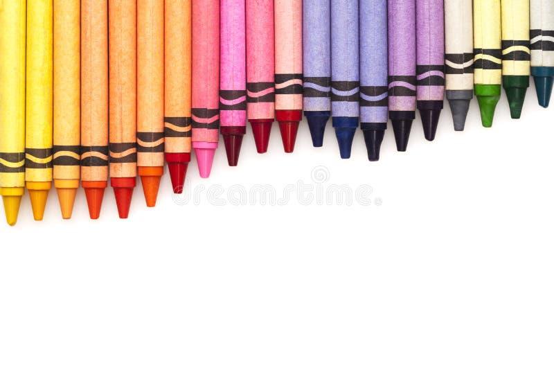 Multicolored geplaatste potloden stock foto's