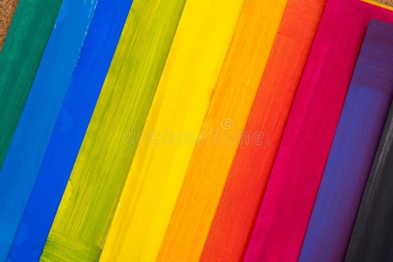 Multicolored geschilderde document bladen royalty-vrije stock afbeeldingen
